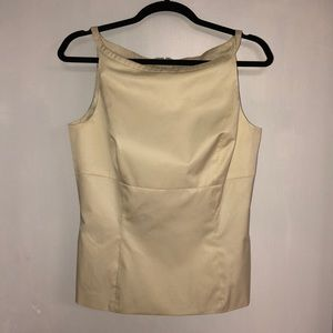 Sleeveless Cream Top with pockets